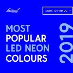 most popular led neon colours in 2019
