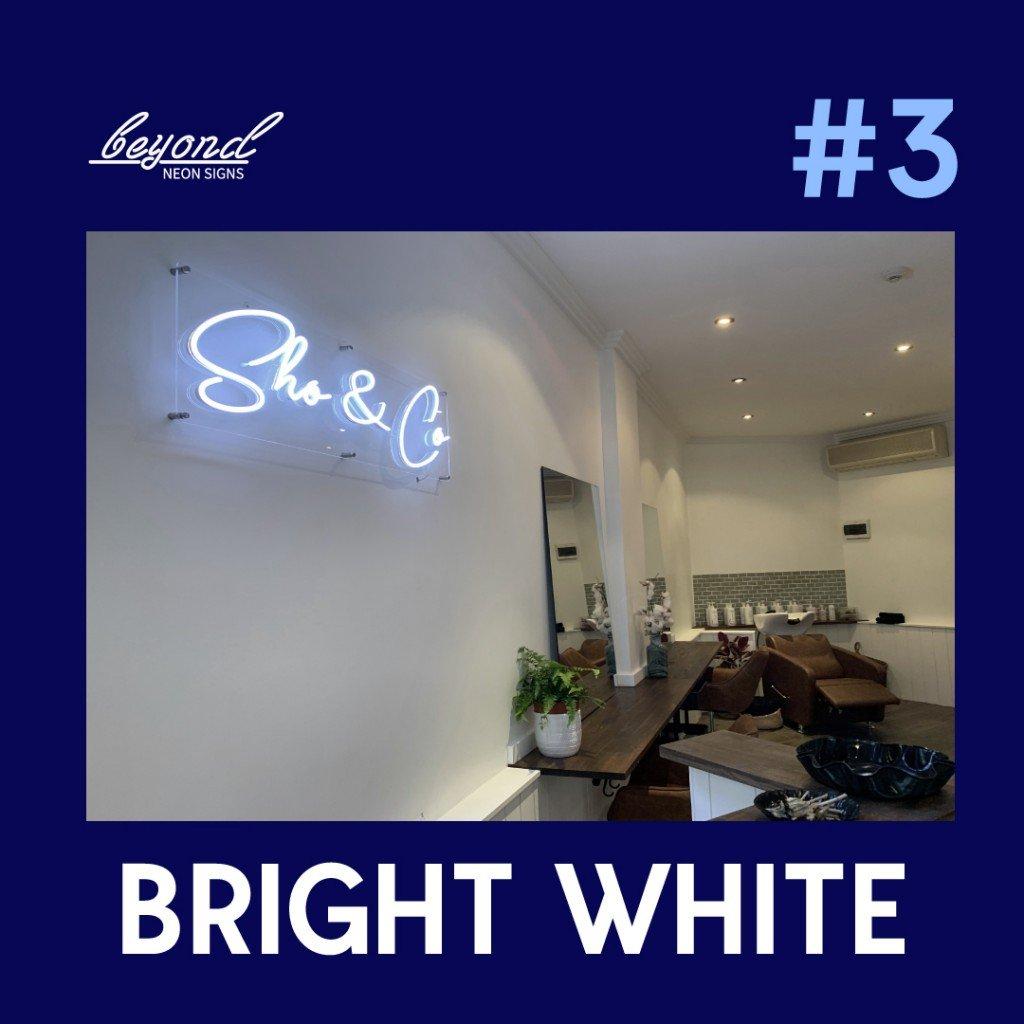 custom led signs neon in white