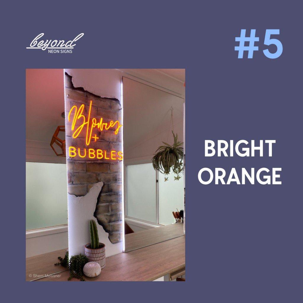 custom led signs neon in orange