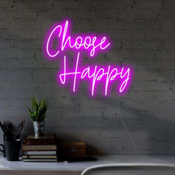 choose happy led sign